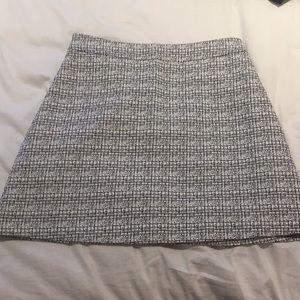 Express Flare Black & White Texture Skirt